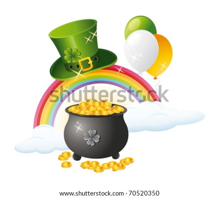 St Patrick`s day background. Vector - stock vector