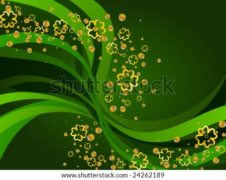 St Patrick's Day background (vector); a JPG version is also available - stock vector