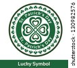 St. Patrick's Day card Stamp Lucky symbol. Vector illustration EPS 10 - stock vector