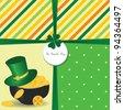 St Patrick's Day card with  Irish holidays symbols. Vector illustration - stock vector
