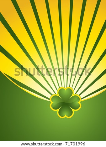 St. Patrick's Day design background - jewelry shamrock - stock vector