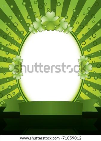 St. Patrick's Day design - frame - stock vector