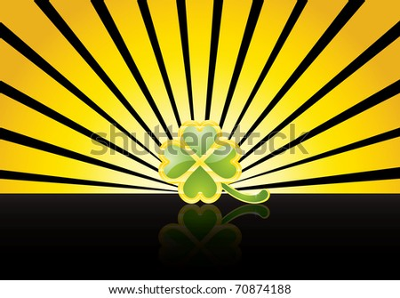 St. Patrick's Day design -jewelry shamrock - stock vector