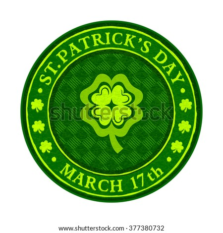 St.Patrick's day green beer coaster isolated - stock vector