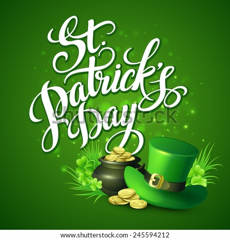 St. Patrick's Day greeting. Vector illustration - stock vector