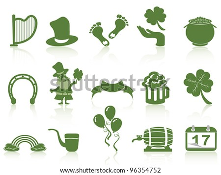 st patrick's day icon - stock vector