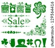 St. Patrick`s day icon. Collection of design elements isolated on White background. Vector illustration - stock vector