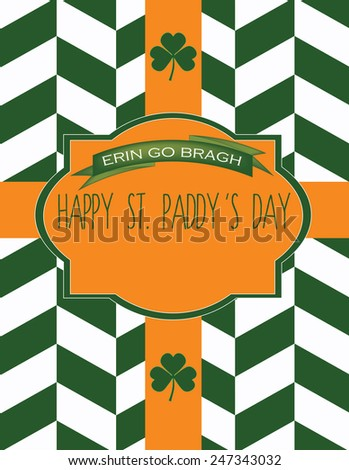 St. Patrick's Day Invitation Card Template  - stock vector