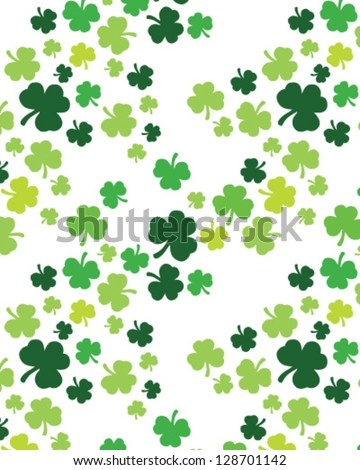 St. Patrick's day pattern - stock vector