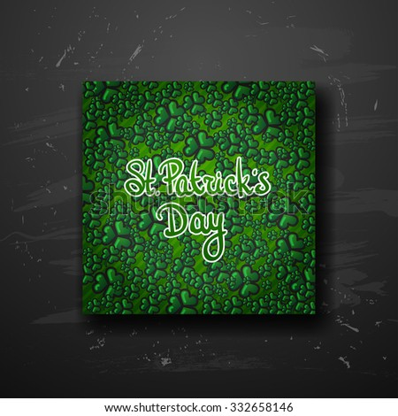 St.Patrick's Day poster on black background  - stock vector