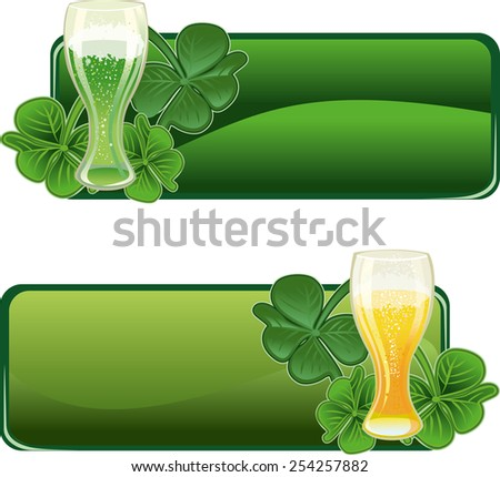 St. Patrick's Day's day banners design