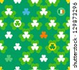 St. Patrick'??s Day seamless pattern - stock vector