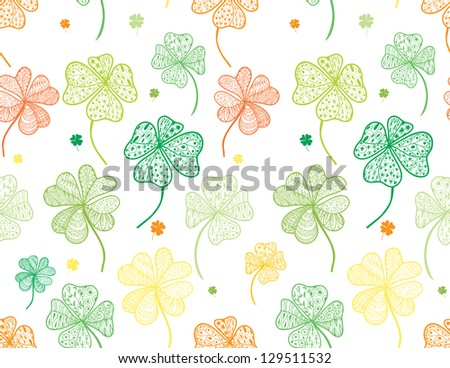 St. Patrick's day seamless pattern. - stock vector