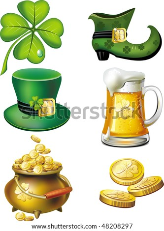St. Patrick's day set - stock vector