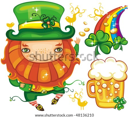 St. Patrick's Day set series 6 - stock vector
