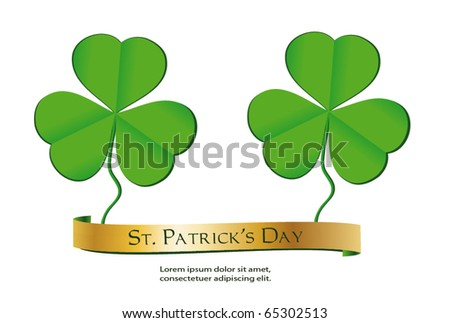 Stpatricks Day Shamrock Green Text Vector Stock Vector 572051728