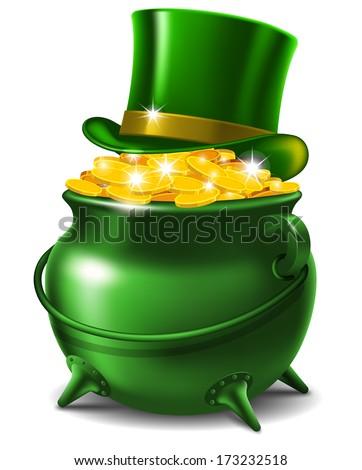 St Patricks Day Symbols Leprechaun Hat Stock Vector ...