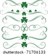 St.Patrick's Elements - stock vector
