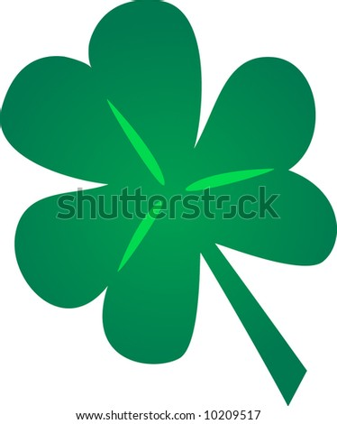 St. Patrick's Shamrock which was used by St. Patrick to explain the Trinity - stock vector