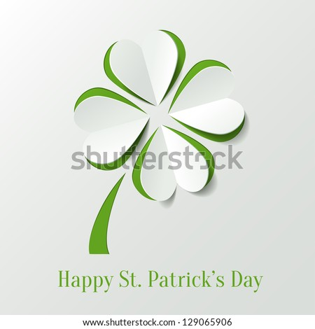 St. Patricks day background with clover - stock vector