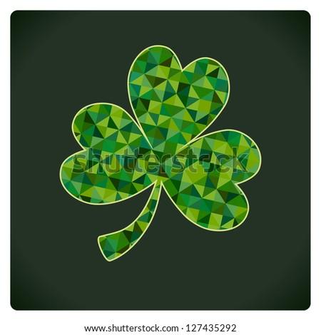 St Patricks day shamrock - stock vector