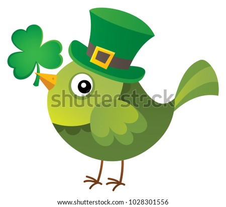 St Patricks Day theme with bird image 1 - eps10 vector illustration.