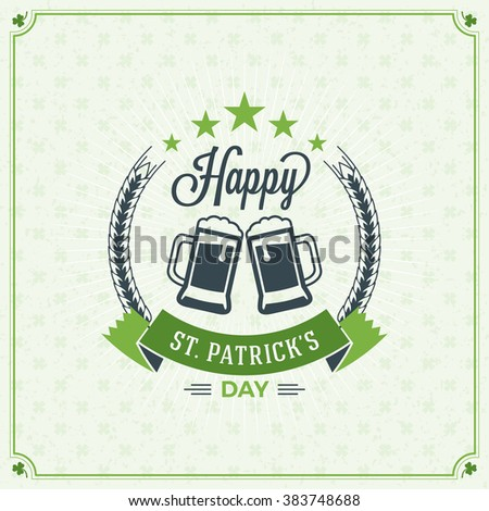 St patricks day vintage holiday badge stock vector royalty free st patricks day vintage holiday badge design vector greetings card design saint patricks m4hsunfo
