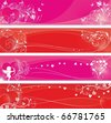 St.Valentine's day banners set - stock vector