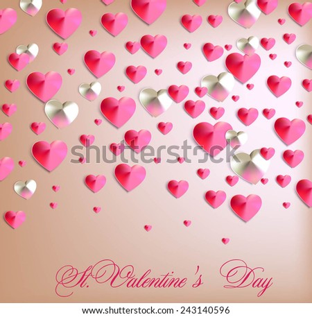 st. Valentines Day background. Vector illustration - stock vector