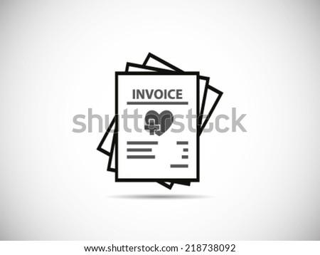 Stack Of Bills Health - stock vector