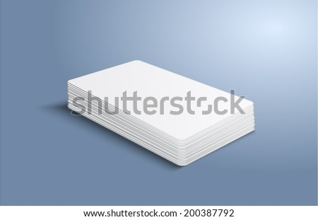 Stack of blank business card. Vector illustration. EPS10.
