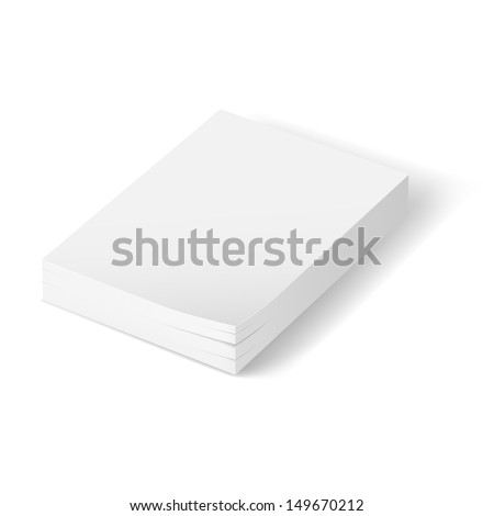 Stack of blank paper.  Illustration on white background  - stock vector