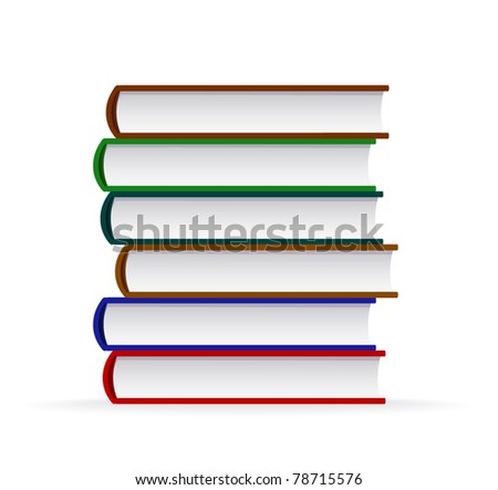 Stack of book - stock vector