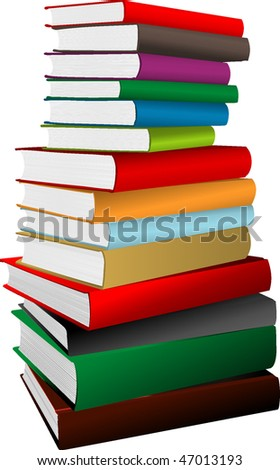 Stack of books. vector illustration - stock vector