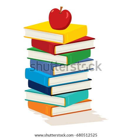 stack books apple on white background stock vector 680512525 rh shutterstock com stack of books vector free