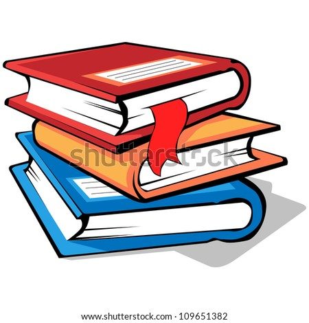stack of books with colored covers - Pictures Of Books To Color