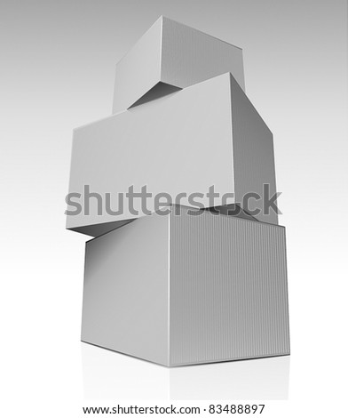 Stack of boxes - stock vector