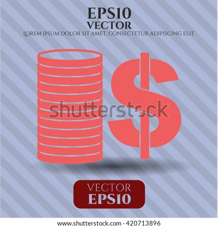 Stack of coins icon or symbol