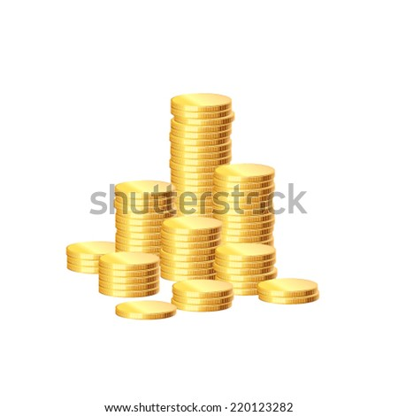 Stack of coins, vector - stock vector