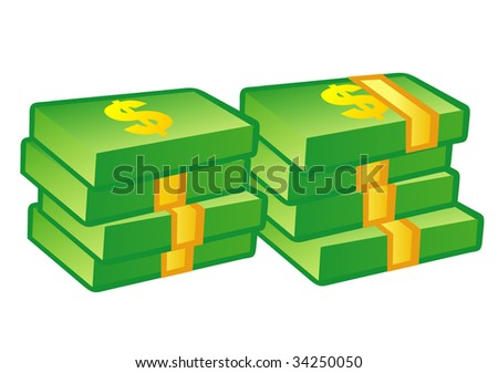 Stack of money vector - stock vector