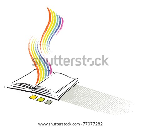 stack of paper icon, freehand drawing, vector
