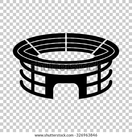 stadium icon. Stadium Vector Icon - Black Illustration T
