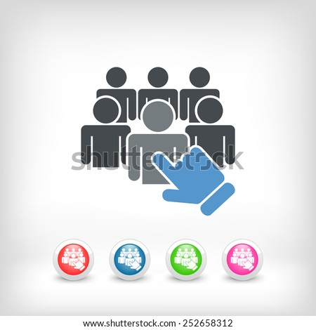 Staff selection icon - stock vector