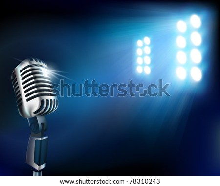 Stage before a concert. Vector illustration. AA - stock vector