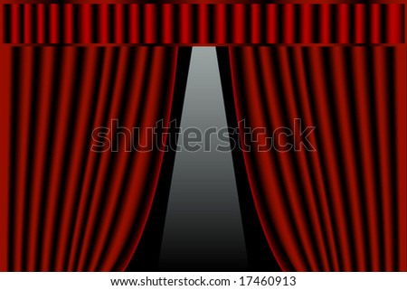 Stage curtains - stock vector