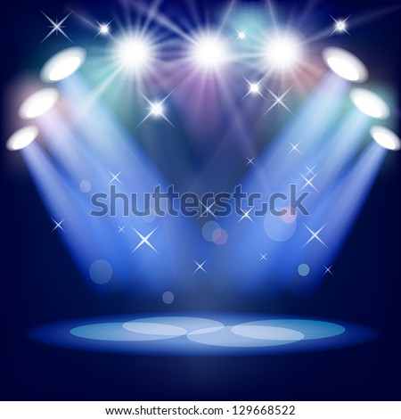 Stage light. Mesh. EPS10. This file contains transparency - stock vector