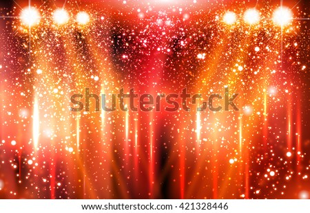 stage, light, spotlight, empty scene illustration easy all editable - stock vector