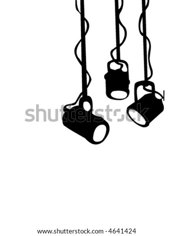 Stage Lights - stock vector