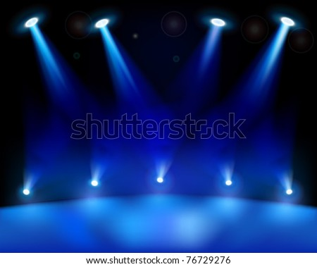 Stage lights. Vector illustration. - stock vector