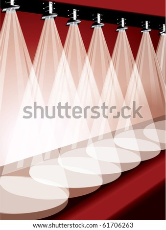 Stage spotlights vector - stock vector
